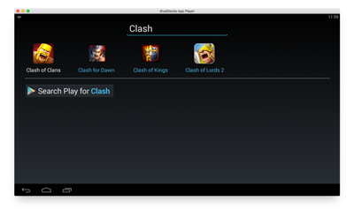 clash of clans mac bluestacks