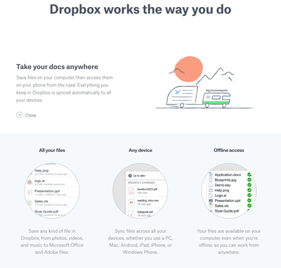 Dropbox free download Screenshot