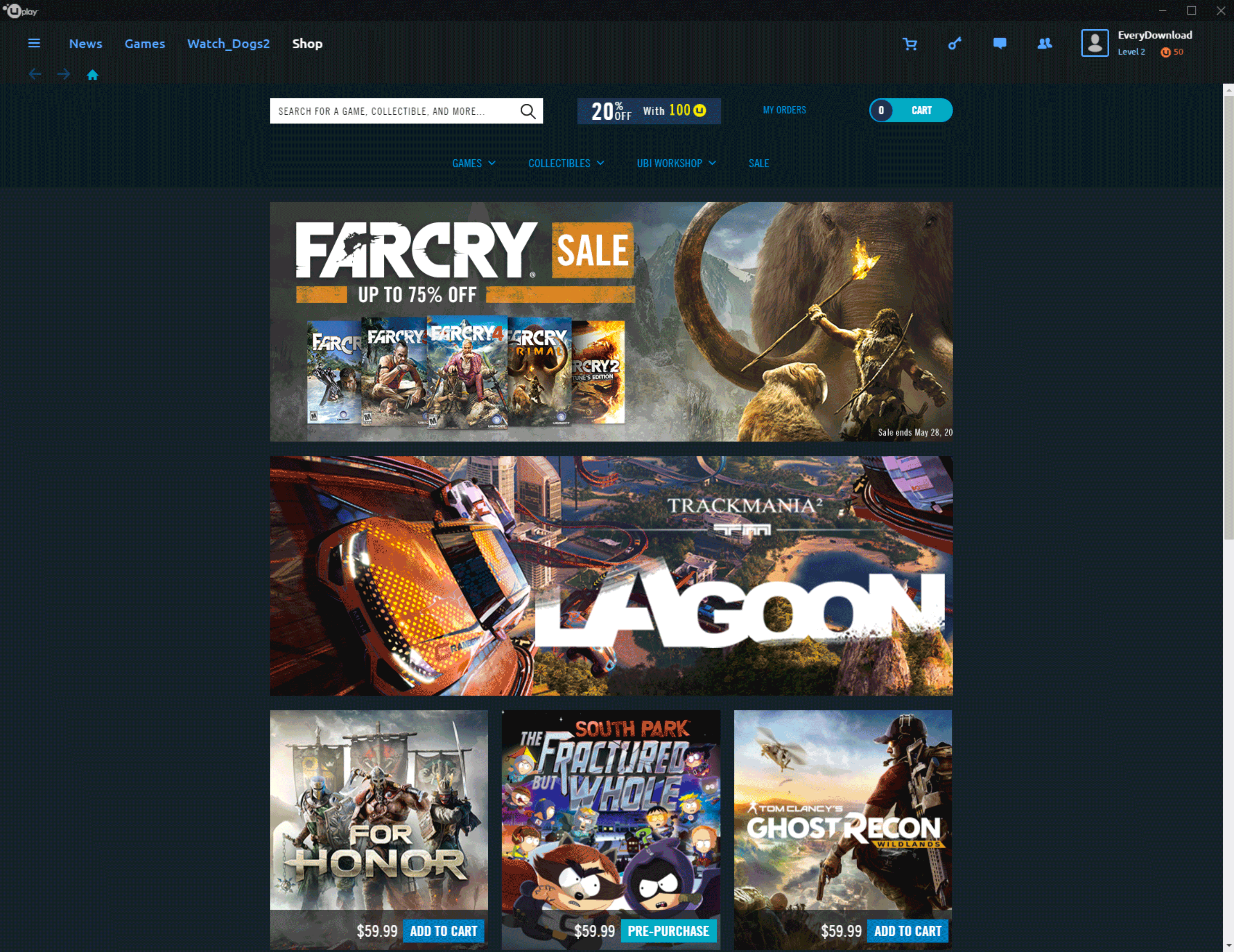 Uplay Download Game Portal Screenshot