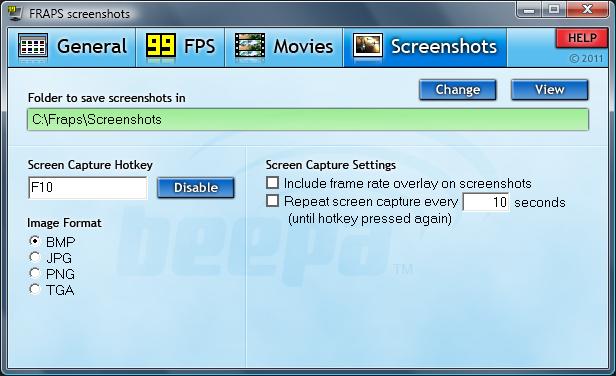 Fraps Screenshot