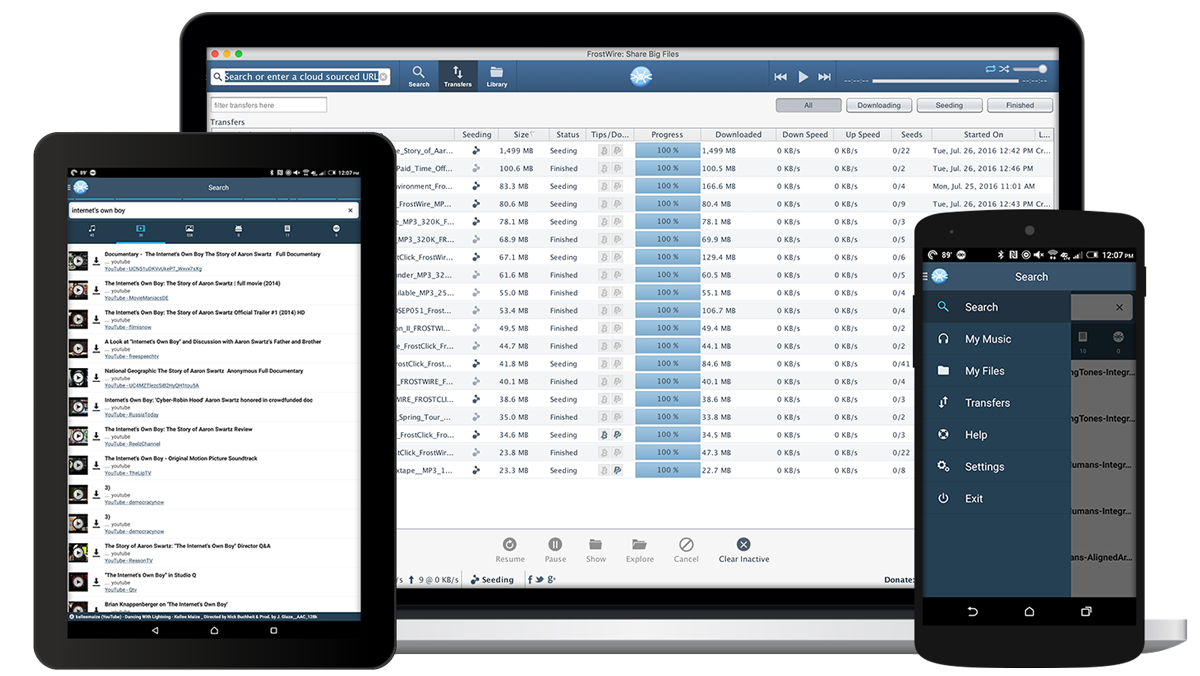 Frostwire 6. 7. 4 download for mac free.
