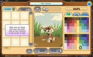 animal jam customizing Screenshot