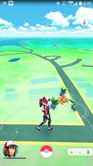 Pokémon Go on PC Screenshot