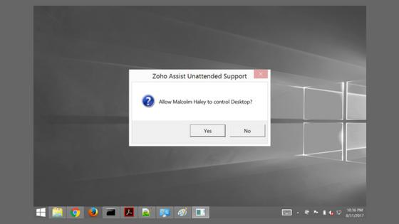 Zoho Assist Free Remote Access Screenshot