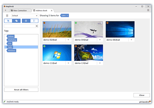 anydesk is an easy to use remote desktop software solution Screenshot