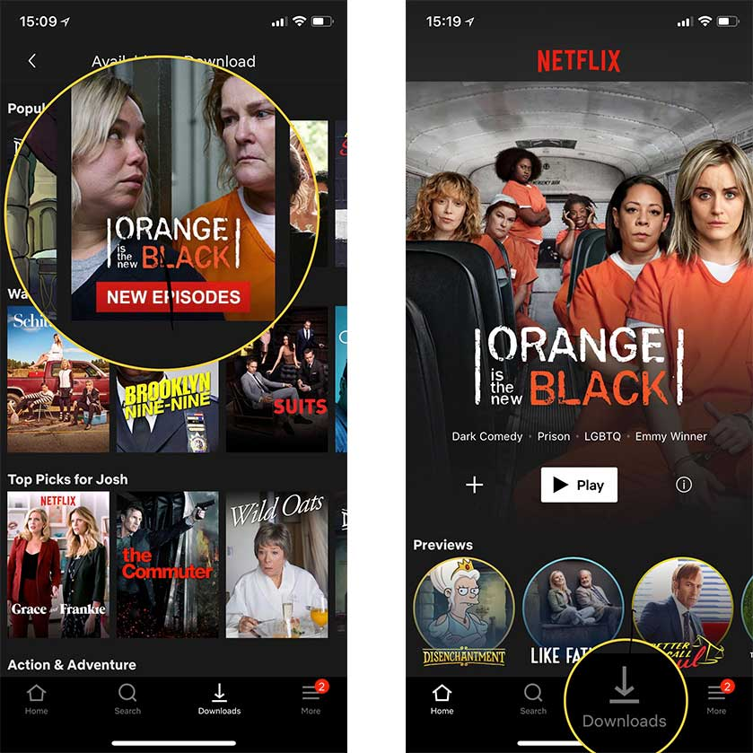 Download movies from Netflix step two and three