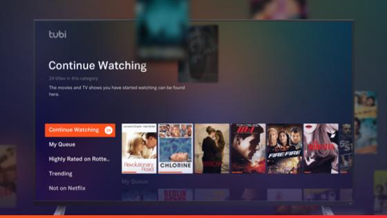Tubi TV App Screenshot