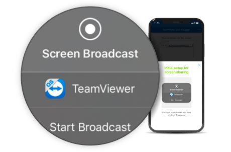 TeamViewer 14 iOS Screen Sharing and Broadcasting Screenshot