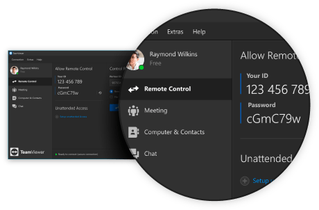 TeamViewer 14 Dark Mode Screenshot